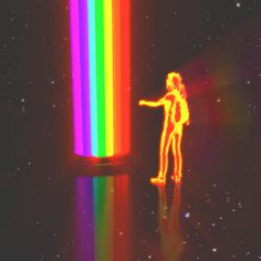 "dualvoidanima: ""'enter_the_light' "" Rainbow Aesthetic, Neon Aesthetic, Trippy Gif, Vaporwave Art, Psy Art, Retro Waves, Glitch Art, Retro Futurism, Psychedelic Art"