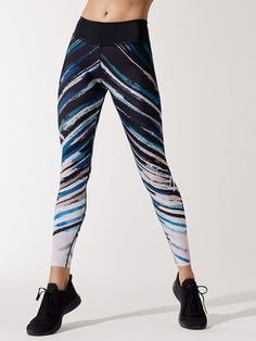 99 High Waisted Printed Midi 7/8 Length Leggings in Darkest Night by Beyond Yoga from Carbon38