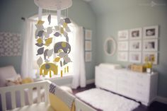 Elephant Crib Mobile-could make from crib quilt fabrics