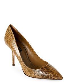 Dolce&Gabbana Olive Bellucci Snakeskin Pointed Toe High Heel Pumps