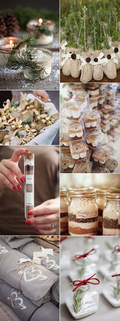 unique wedding favor ideas for winter