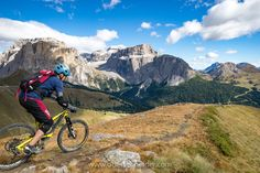 """Mountain Biking in the Dolomites, Fall 2016 #8 - Mountain Biking in the Dolomites, Val Gardena, Italy. Image available for licensing. Order prints of my images online, shipping worldwide via <a href=""""http://www.pixopolitan.net/photographers/oberschneider-christoph-a6030.html"""">Pixopolitan</a> See more of my work here: <a href=""""http://www.oberschneider.com"""">www.oberschneider.com</a> Facebook: <a href=""""http://www.facebook.com/Christoph.Oberschneider.Photography"""">Christoph Oberschneider Pho..."""