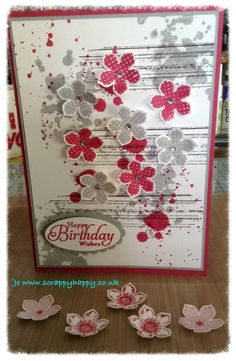 My card made using Stampin Up gorgeous grunge and petite petals