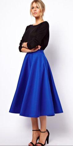Royal Full Skirt - Cobalt