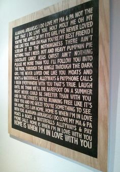 DIY Vintage Chic: Song Lyrics Artwork #Edward Sharpe and the Magnetic Zeros I am so in love with this! First off, the song is truly amazing,  secondly,  the simplicity of the wood is so perfectly matched with this bands style LOVE!!!