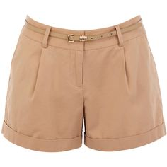 OASIS Stab Stitch Short ($15) ❤ liked on Polyvore featuring shorts, bottoms, short, pants, natural, waist pocket belt, waist belt, pocket shorts, pleated shorts and short shorts