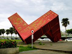 Taiwan Travel: An iconic red container at Xinguang Ferry Wharf, Kaohsiung | Wandering Fel
