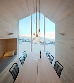 Holiday Home Havsdalen is a minimalist house located in Geilo, Norway, designed by Reiulf Ramstad Arkitekter. The holiday home has a clear a...