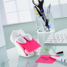Post-it Pop up Cat Dispenser has weighted base for easy dispensing and is ideal for commercial application. Cat Post it Dispenser is refillable, x notes. Cute Office Supplies, Cat Supplies, School Supplies, Office Supply Storage, School Accessories, Easy Arts And Crafts, Diy Bed, Cat Design, Sticky Notes
