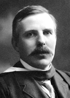 """Ernest Rutherford, 1st Baron Rutherford of Nelson (1871–1937). New Zealand-born physicist who became known as the father of nuclear physics. He discovered the concept of radioactive half-life, proved that radioactivity involved the transmutation of one chemical element to another, and also differentiated and named alpha and beta radiation. He was awarded Nobel Prize in Chemistry in 1908 """"for his investigations into the disintegration of the elements, and the chemistry of radioactive…"""