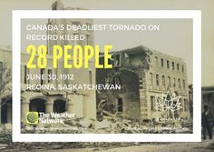 On this day in 1912, the F4 Regina Cyclone claimed 28 lives. destroyed hundreds of buildings and left about  2,500 people homeless. 🇨🇦 fact 150/150 #Canada150