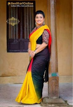 Shop for Ladies designer Sarees Online. Buy casual, formal & partywear Saris in various fabrics, patterns & colours at best prices in India. Beautiful Saree, Beautiful Indian Actress, Beautiful Women, Bridesmaid Saree, Indian Beauty Saree, Voluptuous Women, Bollywood Fashion, Bollywood Actress, Saree Styles