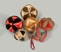 Sewing Balls, American, mid to late 19th century