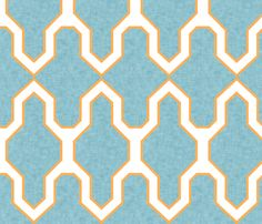 Facet_Aqua fabric by crisbucknall on Spoonflower - custom fabric