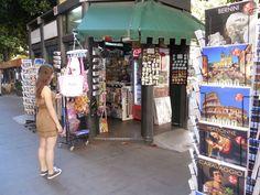 Kiosk on vis Veneto, Rome, Italy.  July 2013