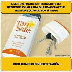 O lado de Cá: Use um frasco vazio de hidratante ou de outro prod...