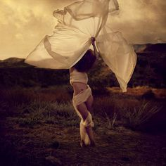 White Fabric Flower by #BrookeShaden