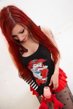 #little #mermaid #tank #top #redhead #girl