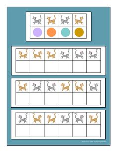 Board for the cat visual perception game. Find the belonging tiles on Autismespektrum on Pinterest. By Autismespektrum