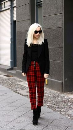 Grunge Outfits, Edgy Work Outfits, Punk Outfits, Business Casual Outfits, Office Outfits, Work Casual, Business Fashion, Chic Outfits, Fashion Outfits