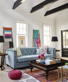 The key to using colors of all stripes? Repeat one or two so the space feels cohesive.