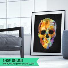 . Who here lives in NEW YORK! ❤️ . #decor #decoracao #interiordesign #arte #art #casa #style #livingroom #nyc #manhattan #us #usa #newyorker #loft #hoteldesign #skull #skulls #caveira #fashion #paint #calavera #skullart