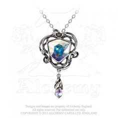 Empyrean Eye: Tears From Heaven necklace - Black Rose