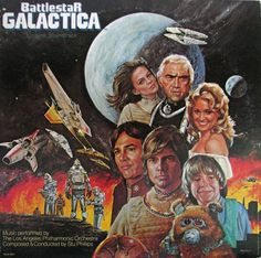 Excited to share this item from my shop: Battlestar Galactica - Television Sci Fi Soundtrack Electronic Disco Vinyl LP Kampfstern Galactica, Battlestar Galactica 1978, 70s Tv Shows, Soundtrack Music, Architecture Tattoo, Sci Fi Movies, Wedding Art, Various Artists, Cover Art