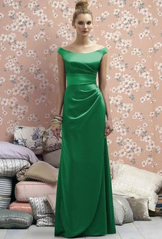Brides.com: . Kelly Green Bridesmaid Dress: Lela Rose. Style LR177, Lela Rose renaissance satin bridesmaid dress in shamrock, $278, available at Weddington Way  See more Lela Rose bridesmaid dresses.