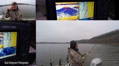 Striper fishing jon Beaver Lake with fishing guides Ed Chapko and Brad Wiegmann in Arkansas