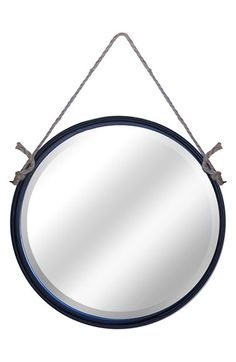 VIP+INTERNATIONAL+Metal+Frame+Round+Hanging+Mirror+available+at+#Nordstrom