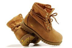 Mens Timberland Authentic Roll-Top Boots-Wheat Gold (size 10)