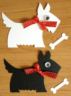 8 large Scotty Scottie Westie dog die cuts with bones for cards toppers cardmaking scrapbooking craft project Dog Crafts, Paper Crafts For Kids, Crafts For Kids To Make, Dog Cards Handmade, Cat And Dog Drawing, Marianne Design, Animal Cards, Scottie, Diy Christmas Gifts