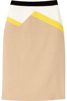 Vionnet Color-block stretch-crepe pencil skirt NET-A-PORTER.COM