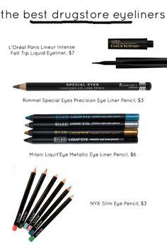 the best drugstore eyeliners.