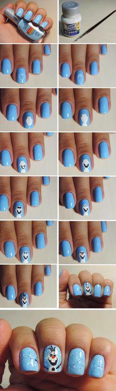 LoLus Fashion: Wonderful Frozen Nail Art Design Tutorials / Best LoLus Nails Fashion
