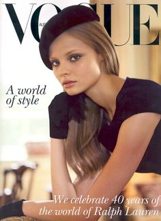 Magdalena Frackowiak on the cover of Vogue Australia, October 2007.
