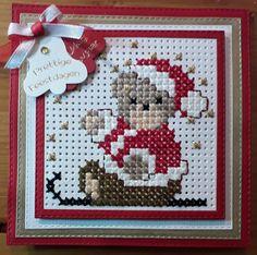Cross Stitch Cards, Marianne Design, Christmas Cross, Holiday Decor, Painting, The Creation, Punto De Cruz, Dots, Cross Stitch