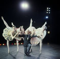 New York City Ballet - Newsweek cover shot of George Balanchine with dancers Patricia Neary, Patricia McBride, Suzanne Farrell and Gloria Govrin (New York)