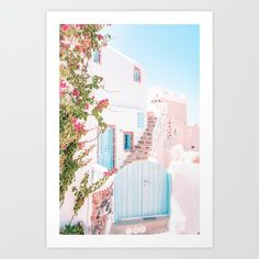 #Santorini #Greece #TravelPhotography #Pastels #PhotoArtPrint