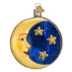 Man in the Moon Ornament from TheHolidayBarn.com.  no shipping to canada 22018 old world christmas