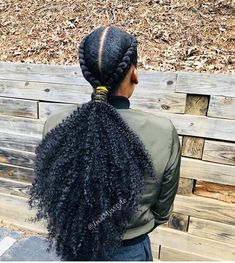 75 Awesome Box Braids Hairstyles You Simply Must Try - Hairstyles Trends Curly Ponytail, Ponytail Styles, Braided Ponytail, Braid Styles, Curly Hair Styles, Natural Hair Styles, Cornrows Ponytail, Braid Hair, African Braids Hairstyles