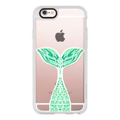 Pretty Mint Mermaid - iPhone 6s Case,iPhone 6 Case,iPhone 6s Plus... (£30) ❤ liked on Polyvore featuring accessories, tech accessories, phone, phone cases, iphone, iphone case, iphone cover case, iphone hard case, mint green iphone case and clear iphone cases