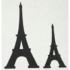 Eiffel tower simple silhouette decor