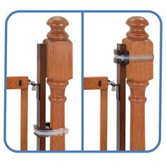 Summer Banister to Banister Universal Gate Mounting Kit – Fits Round or Square Banisters, Accommodates Most Hardware & Pressure Mount Baby Gates up to Tall, Gate Sold Separately Baby Gate For Stairs, Diy Baby Gate, Stair Gate, Baby Gates, Gate Hardware, Pet Gate, Bannister, Wall Installation, Wood Screws