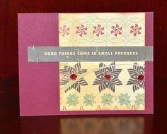 Good Tidings card by Darla Weber #CosmoCricket