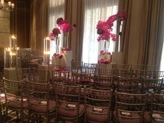We designed a more intimate ceremony with chairs in a semi circle around the celebrant for this humanist wedding.