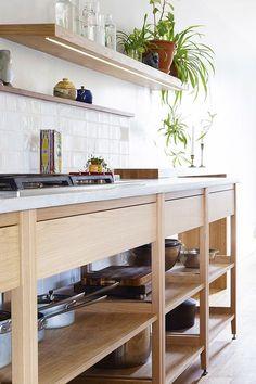 Loft Kitchen, Basement Kitchen, Ikea Kitchen, Rustic Kitchen, Kitchen Interior, Kitchen Decor, Kitchen Cabinet Storage, Kitchen Cabinets, Unfitted Kitchen