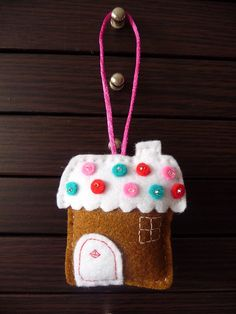 Felt gingerbread house from Falalala Felt.