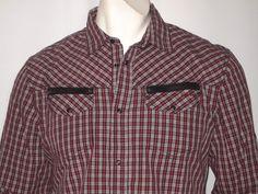 Diesel industry men's long sleeves modern western design size xl NWT #DIESEL #ButtonFront